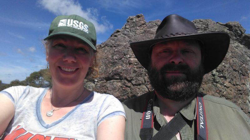 Two geologists in Australia 2017. Photo: Gabrielle (selfie)